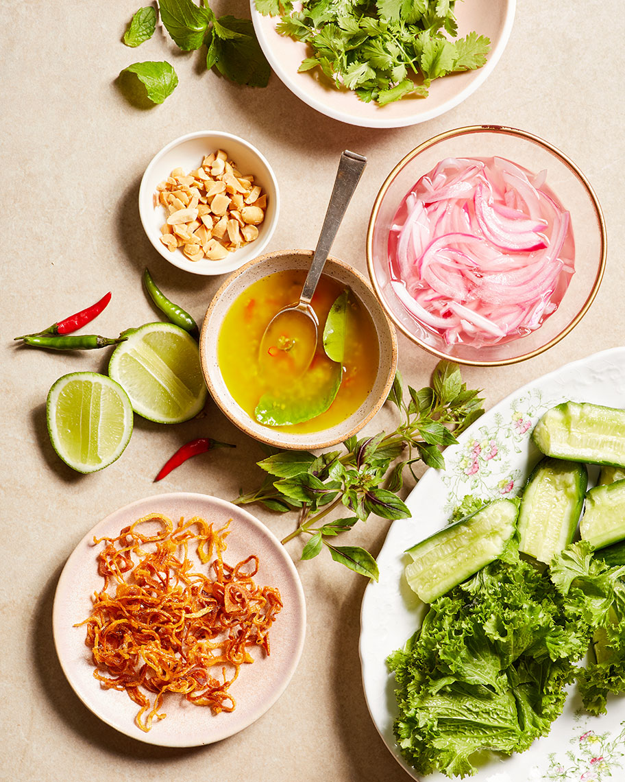 Kristin Teig Photography | Cucumber, Mint, Onion, Salad Ingredients for Goop