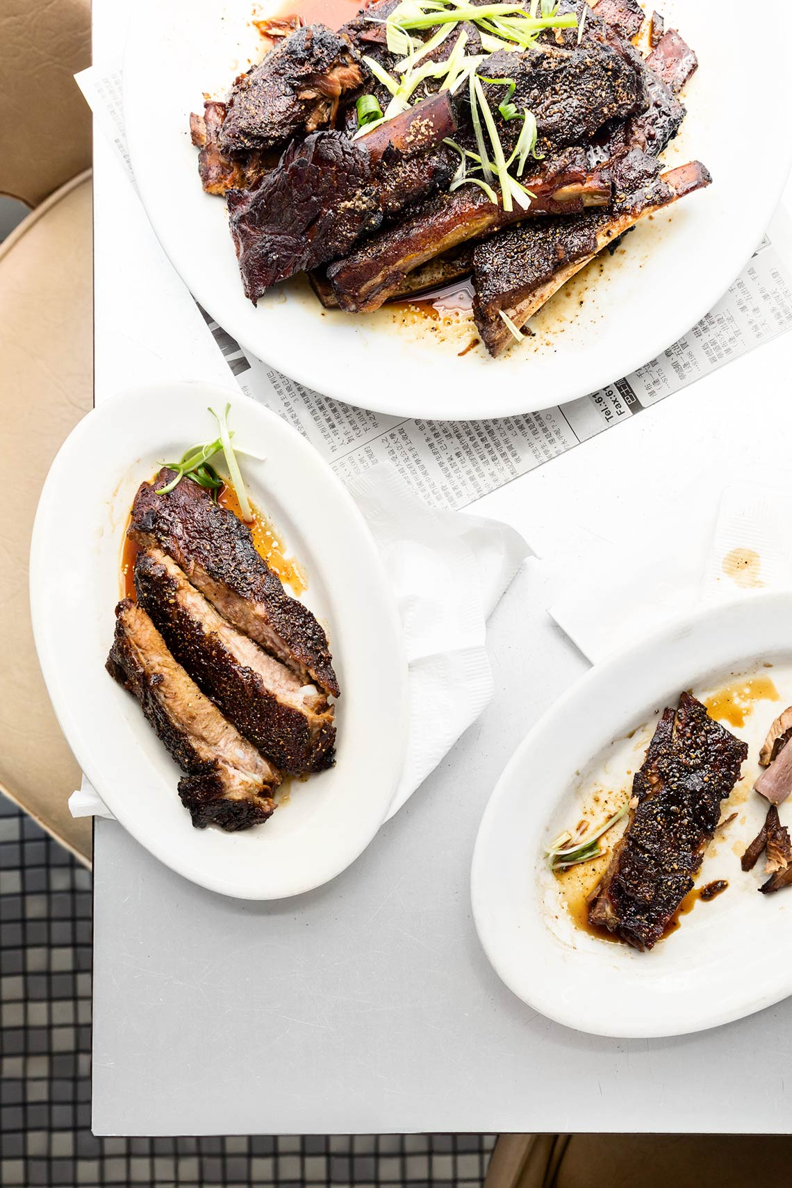 Tea-smoked ribs from Myers + Chang, Boston