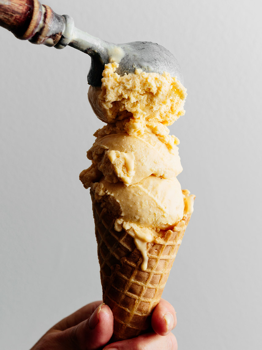 Kristin Teig Photography | Sweet potato gelato in a cone