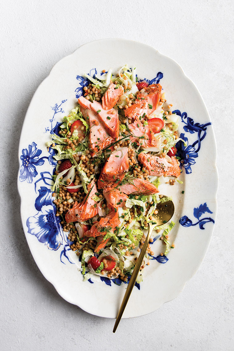 Kristin Teig Photography | Salmon, Fennel and Strawberries for Maggie Battista