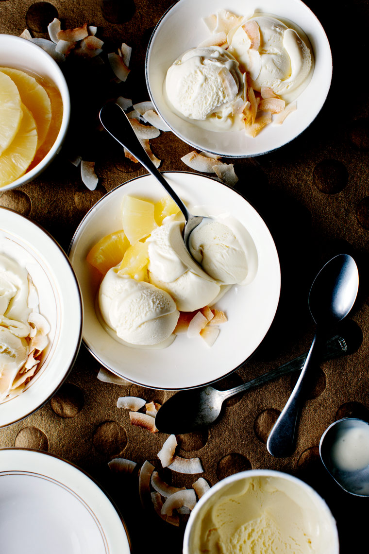 Pineapple coconut ice cream - Kristin Teig