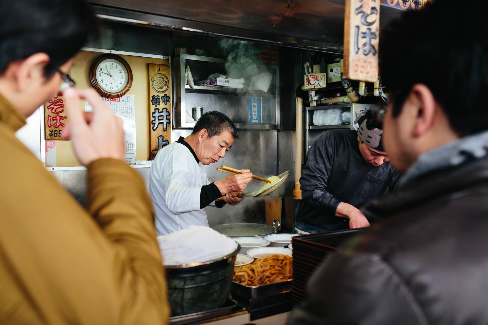 Tsukiji food stands