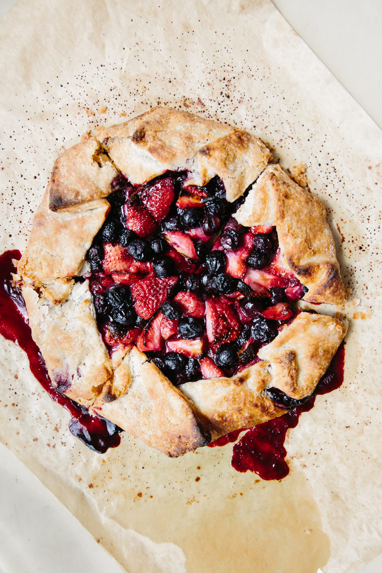 Berry galette from Saltbox Kitchen