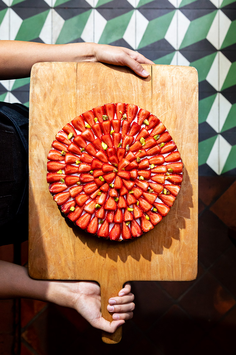 Kristin Teig Photography | Strawberry tart from Republique